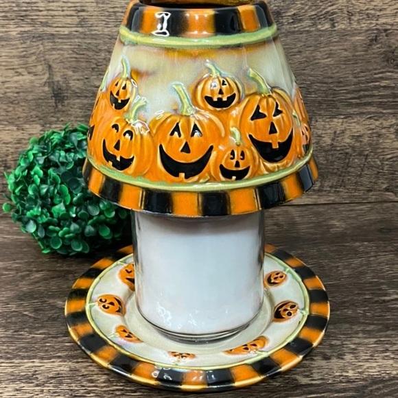 Yankee Candle Halloween Lampshade & Plate
